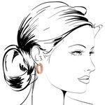 Rose Gold Hoop Earrings 14K