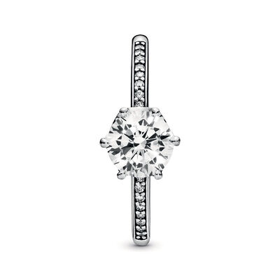Pandora Wonderland Clear Sparkling Crown CZ Ring