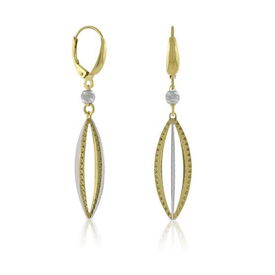 Toscano Marquise Dangle Earring, 14K