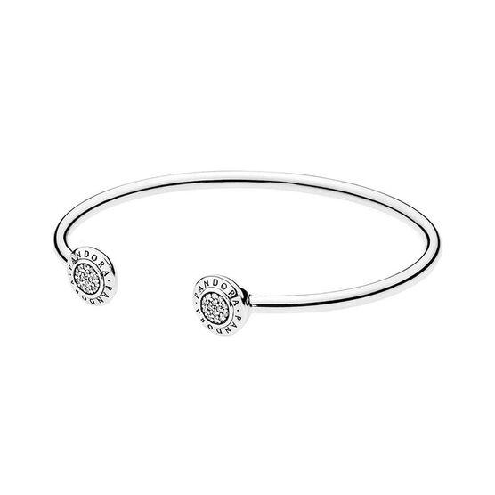 Pandora Signature CZ Bangle Bracelet