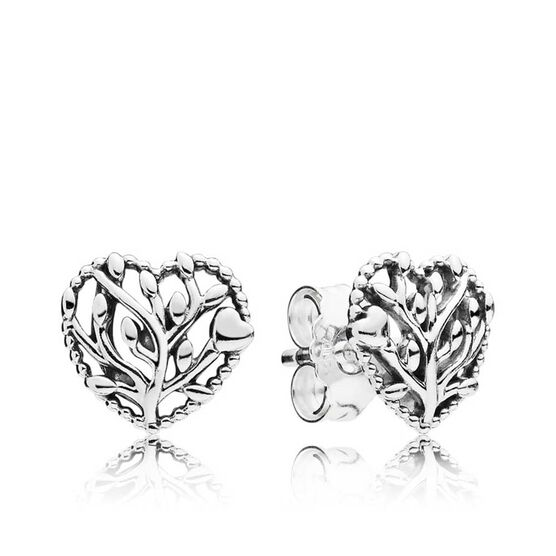 PANDORA Flourishing Hearts Stud Earrings