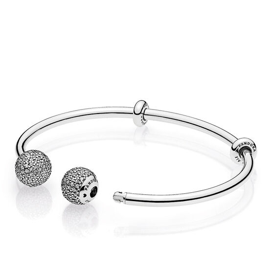 PANDORA CZ Open Bangle Bracelet
