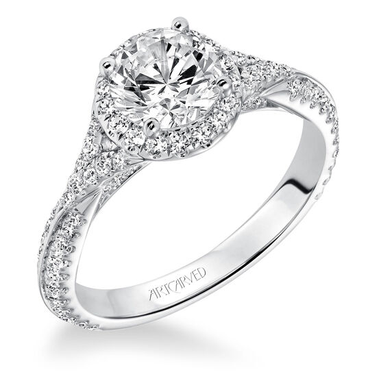 ArtCarved Liana Diamond Semi-Mount Ring