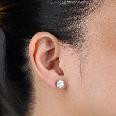 Cluster Diamond Earrings 14K, 3/4 ctw.