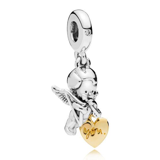 PANDORA Cupid & You CZ Charm, PANDORA Shine™ & Silver