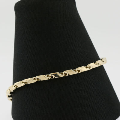 "Toscano Stampato Bracelet 14K , 8"""
