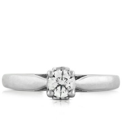 Ideal Cut Ikuma Canadian Diamond Solitaire 14K
