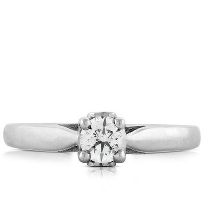 Ideal Cut Ikuma Canadian Diamond Solitaire 14K