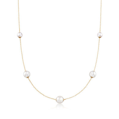 Mikimoto Akoya Cultured Pearl Stations Necklace 18K