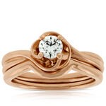 Rose Gold Diamond Bridal Set 14K