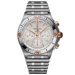 Breitling Chronomat B01 42 Silver Watch, 42mm, 18K & Steel