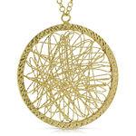 Toscano Webbed Medallion Necklace 14K