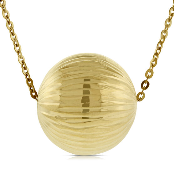 Large Bead Necklace 14K
