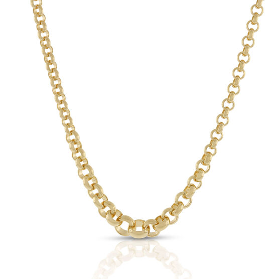 """Toscano Graduated Solid Rolo Necklace 18K, 18"""""""