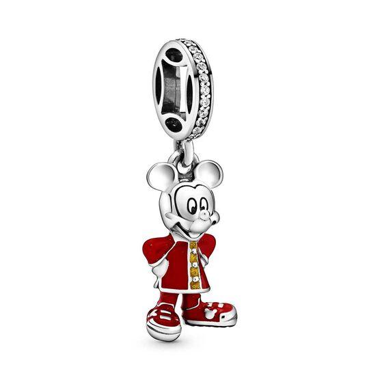 Pandora Disney Mickey Mouse Chinese New Year Enamel & CZ Dangle Charm