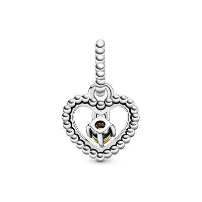 Pandora Honey Crystal Beaded Heart Dangle Charm