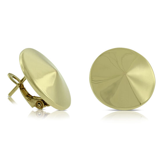 Toscano Circle Spike Stud Earrings 14K