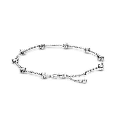 Pandora Sparkling Pavé CZ Bars Bracelet