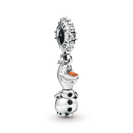 Pandora Disney, Frozen Olaf Dangle Enamel & CZ Charm