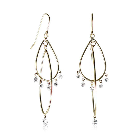 Drilled Collection Diamond Chandelier Earrings 18K