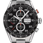 TAG Heuer Carrera Calibre 16 Day Date Automatic Mens Black Steel Chronograph Watch