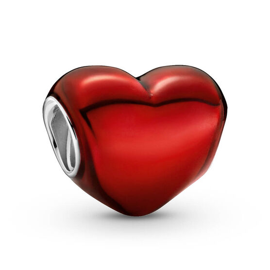 Pandora Metallic Red Heart Enamel Charm