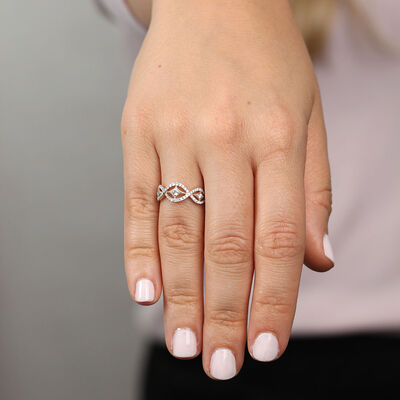 Diamond Wave Ring 14K