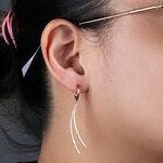 Rose Gold Dangle Diamond Earrings 14K