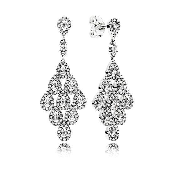 PANDORA Cascading Glamour CZ Earrings