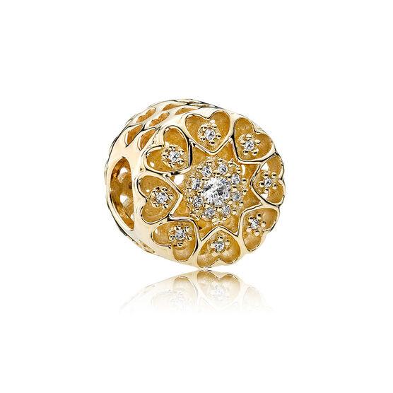 PANDORA Hearts of Gold CZ Charm 14K