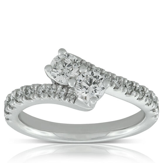 Perfectly Paired 2-Stone Diamond Ring 14K, 1 ctw.