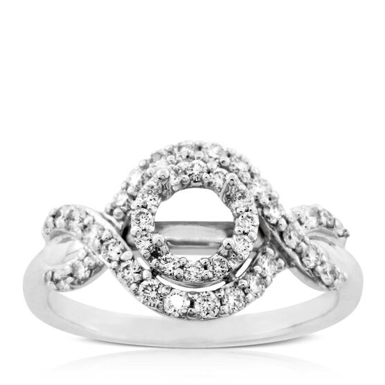 Four Prong Diamond Semi-Mount Ring 14K