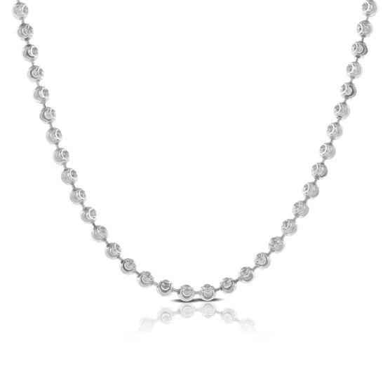 "Moon Cut Bead Chain 14K, 18"""