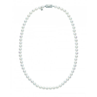 "Mikimoto A Akoya Cultured Pearl Strand Necklace 18K, 24"""