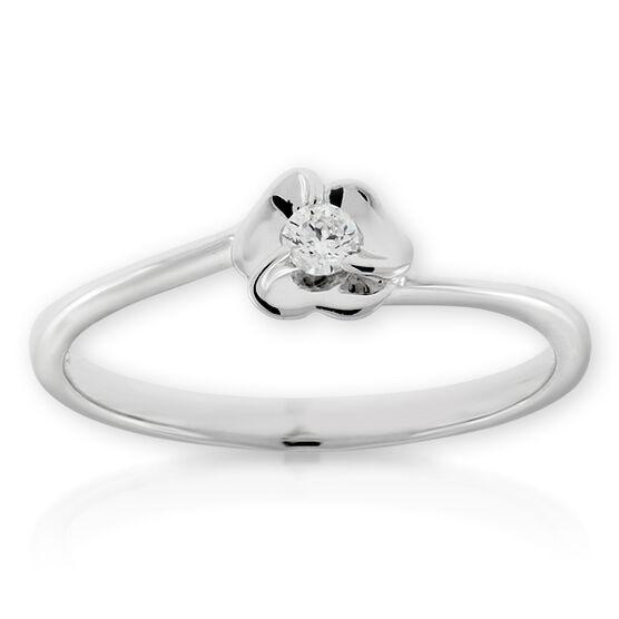 Diamond Flower Ring 14K