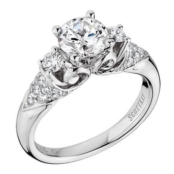 Scott Kay Noblesse Diamond Semi-Mount Ring 14K