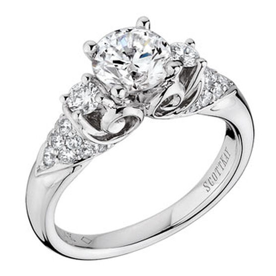 Scott Kay Noblesse Diamond Semi-Mount Ring 14K