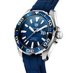 TAG Heuer Aquaracer Calibre 5 Automatic Mens Blue Rubber Watch
