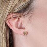 Geometric Faceted Stud Earrings 14K