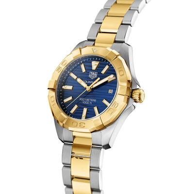 TAG Heuer Aquaracer Quartz Ladies Blue Steel & Yellow Gold Plated Watch