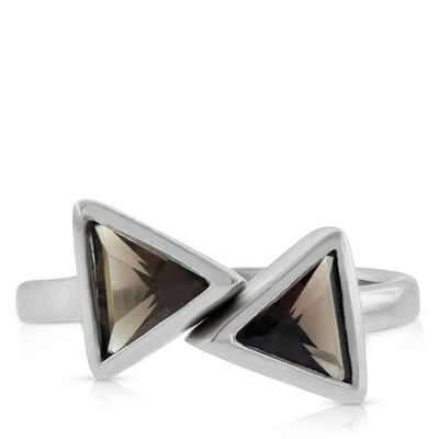Lisa Bridge Smoky Quartz Double Arrow Midi Ring