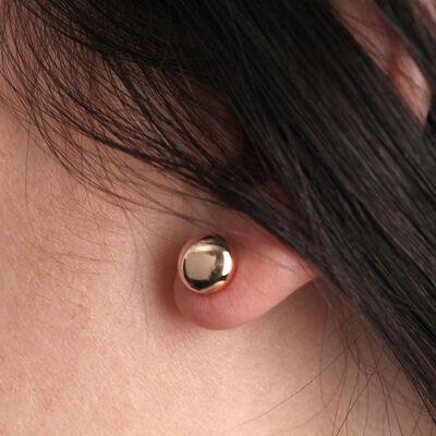 Rose Gold Stud Earring 14K
