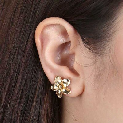 Toscano Flower Stud Earrings 14K