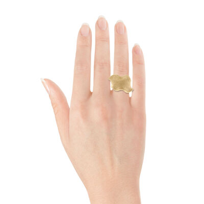 Ruffle Ring, 18K over Sterling Silver