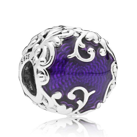 Pandora Regal Beauty Charm, Purple Enamel