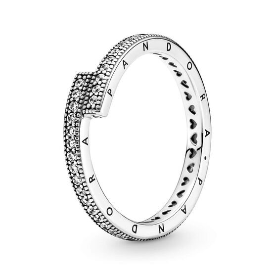 Pandora Sparkling CZ Overlapping Ring