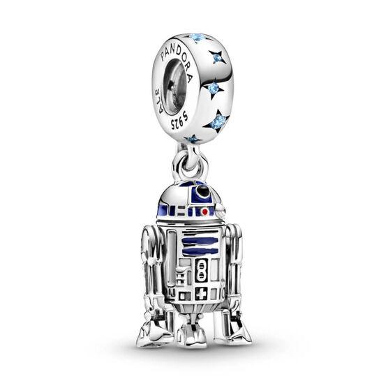 Pandora Star Wars R2-D2 Enamel & CZ  Dangle Charm
