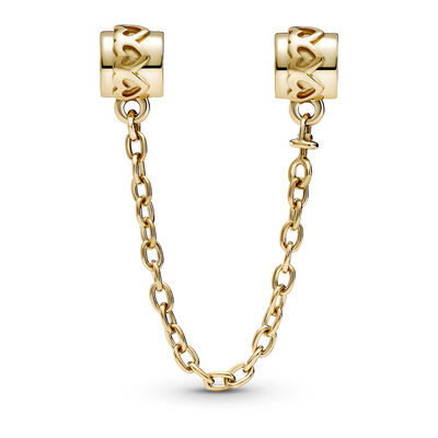 Pandora Hearts Safety Chain Charm 14K