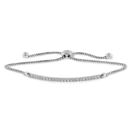 Diamond Bolo Bar Bracelet 14K