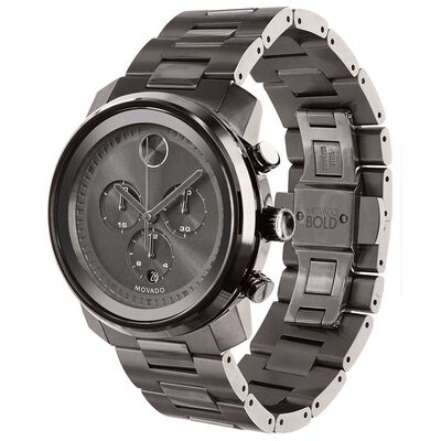 Movado Bold Grey Chronograph Gunmetal Ion Watch